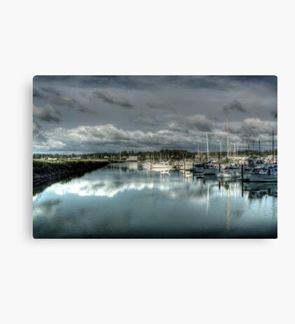 Reflections at the Docks Canvas Print