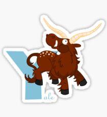 y for yale Sticker