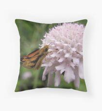 Greenish Grass-dart (Ocybadistes walkeri) - Adelaide, South Australia Throw Pillow