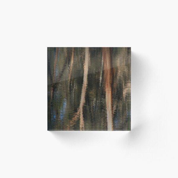 Bush Tapestry Reflection Acrylic Block
