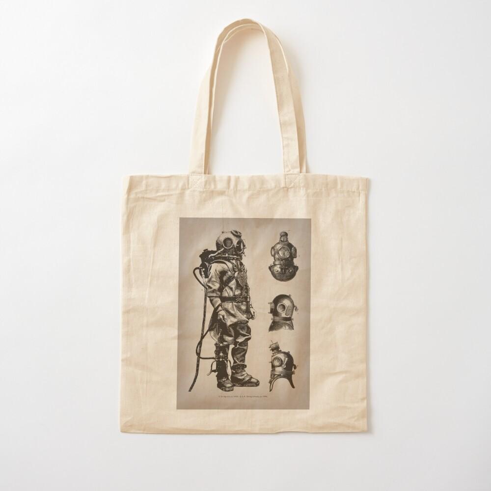 Vintage Deep Sea Diver   Nautical    Cotton Tote Bag