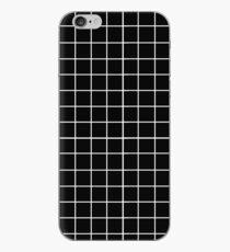 Raster - Schwarz & Weiß iPhone-Hülle & Cover