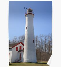 Lighthouse - Sturgeon Point, Michigan Poster