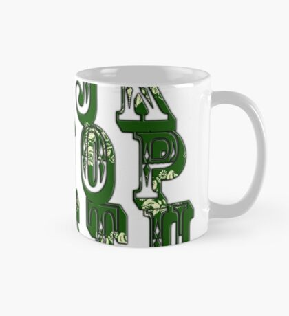 Green Canal Flowers Alphabet Mug