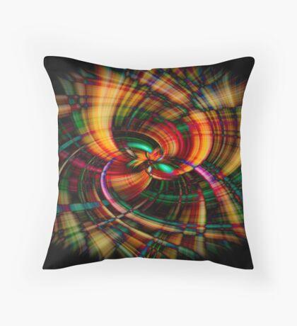 Plastic Fantastic Color Throw Pillow