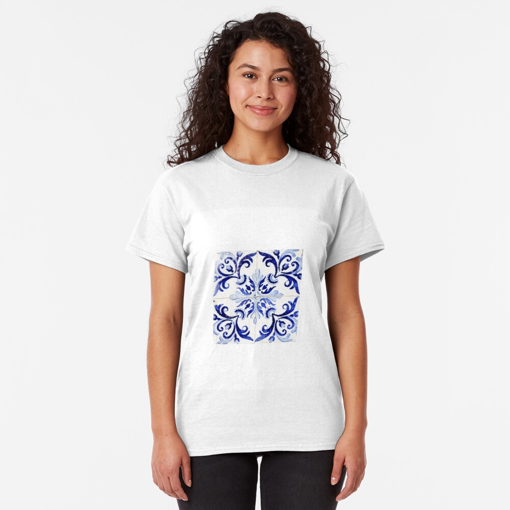 tiles pattern VI - Azulejos, Portuguese tiles Classic T-Shirt
