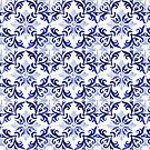 tiles pattern VI - Azulejos, Portuguese tiles by Ingrid Beddoes
