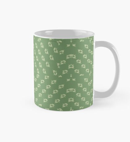 Canal flowers on pale green pattern Mug