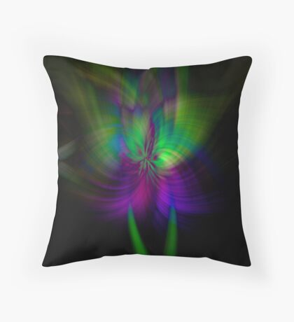 Purple and Teal makes me Squeal Throw Pillow