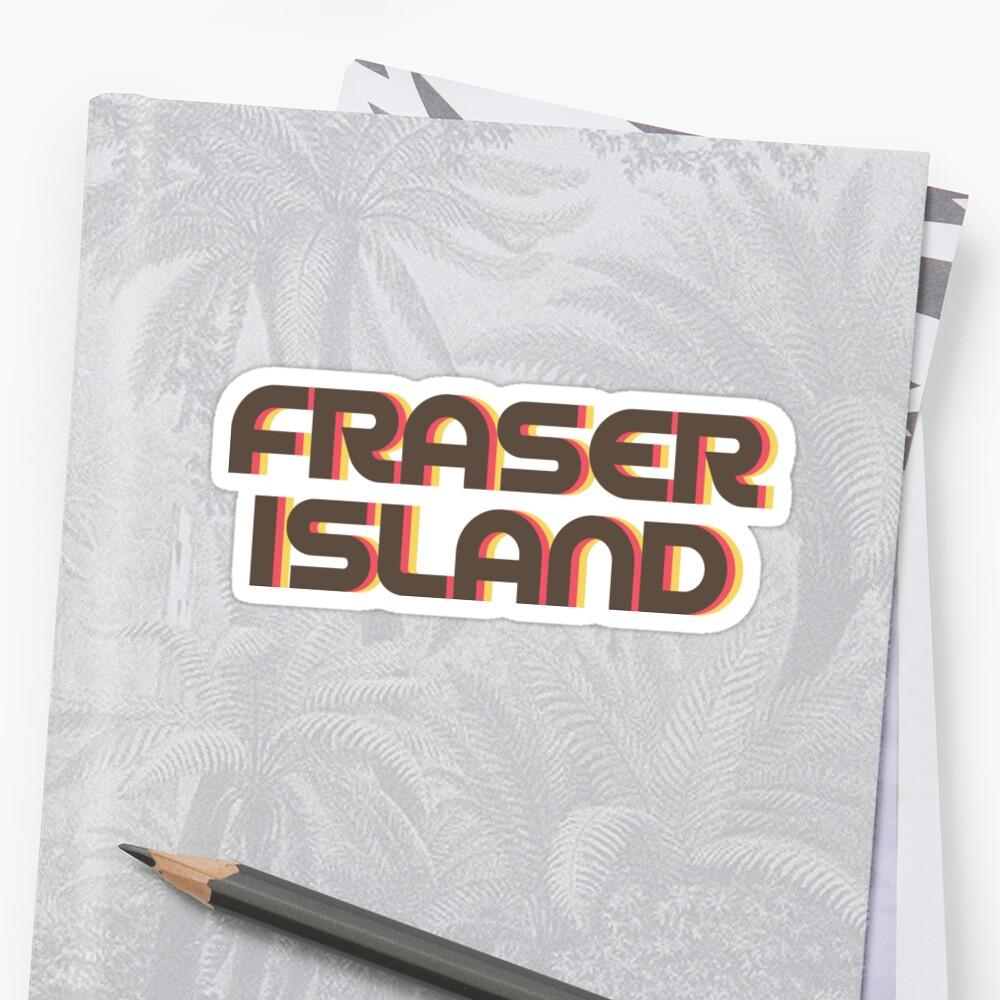 Fraser Island Retro Sticker