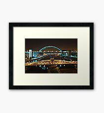 Bridges of the River Tyne, Newcastle. UK Framed Print