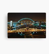 Bridges of the River Tyne, Newcastle. UK Canvas Print