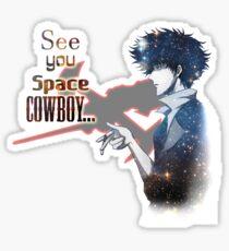 Spike Spiegel Space Cowboy Sticker