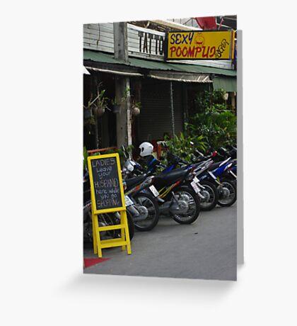 Bar at Chiang Mai Greeting Card