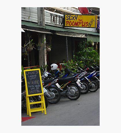 Bar at Chiang Mai Photographic Print