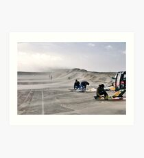 Sand storm on the Brouwersdam Art Print