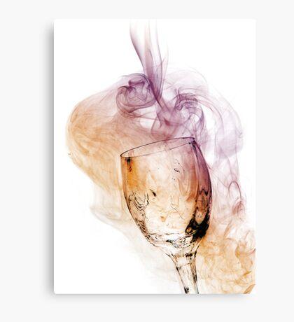 A Glass of Smoke Canvas Print