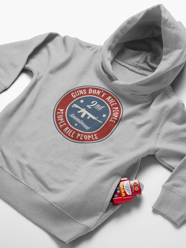 Alternate view of Second Amendment Toddler Pullover Hoodie