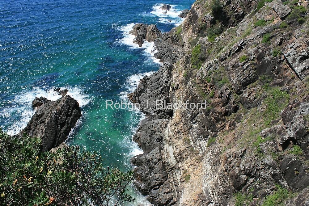 Cliff at Bennett's Head, Forster, NSW by aussiebushstick