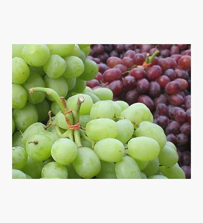 Grapes at a new york market Photographic Print