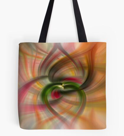 Peach and Green  Tote Bag