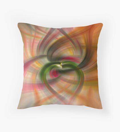 Peach and Green  Throw Pillow