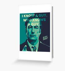 Tarjeta de felicitación Saul Goodman - Conozco a un chico.