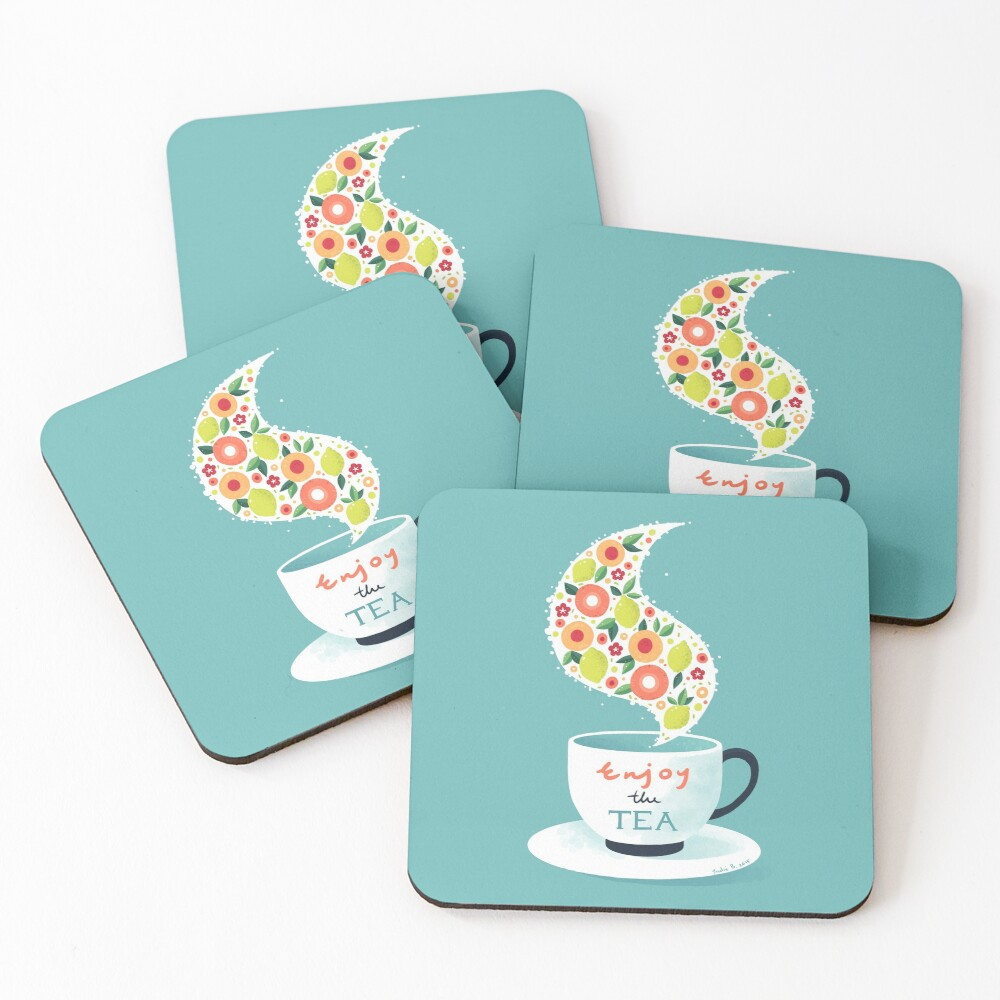 Enjoy the Tea Coasters (Set of 4)