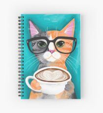 Kitten's Latte of Love Spiral Notebook