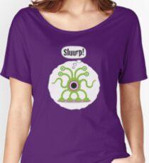 Noisy Little Terrors - 'Sluurp!' cartoon character T-shirt Women's Relaxed Fit T-Shirt