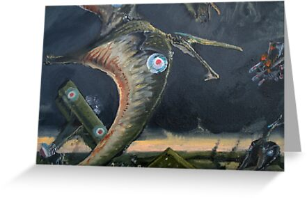 Billy Barker and Pterosaur Squadron by Glendon Mellow