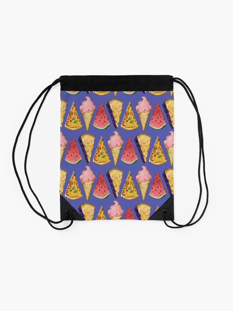 Alternate view of Happy Picnic Triangles Drawstring Bag