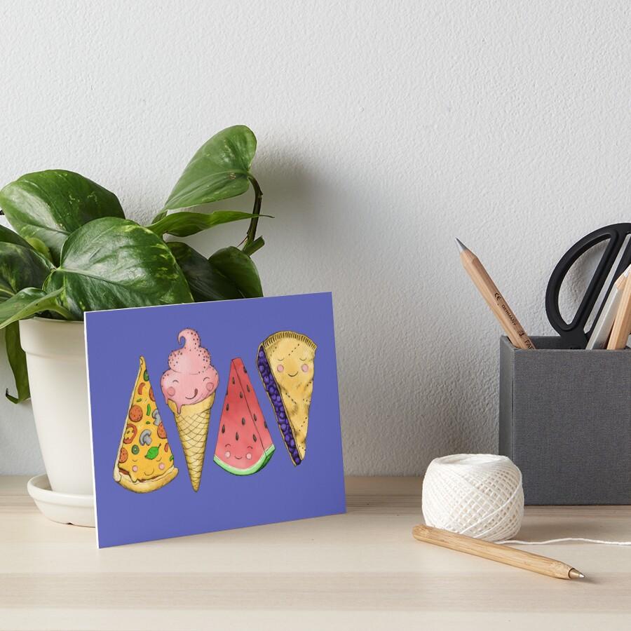 Happy Picnic Triangles Art Board Print