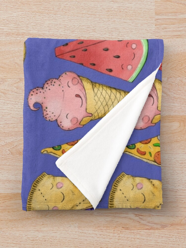Alternate view of Happy Picnic Triangles Throw Blanket