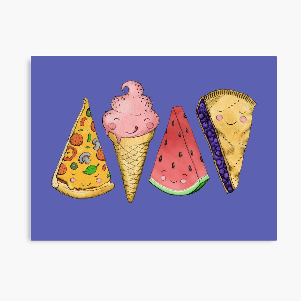 Happy Picnic Triangles Canvas Print