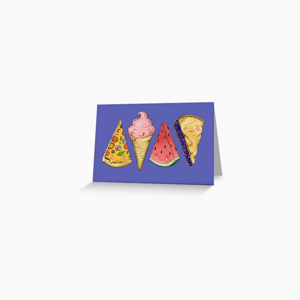 Happy Picnic Triangles Greeting Card