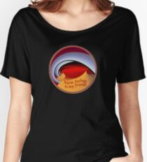 Red Kiss Fantasy Loving Your Friends Women's Relaxed Fit T-Shirt