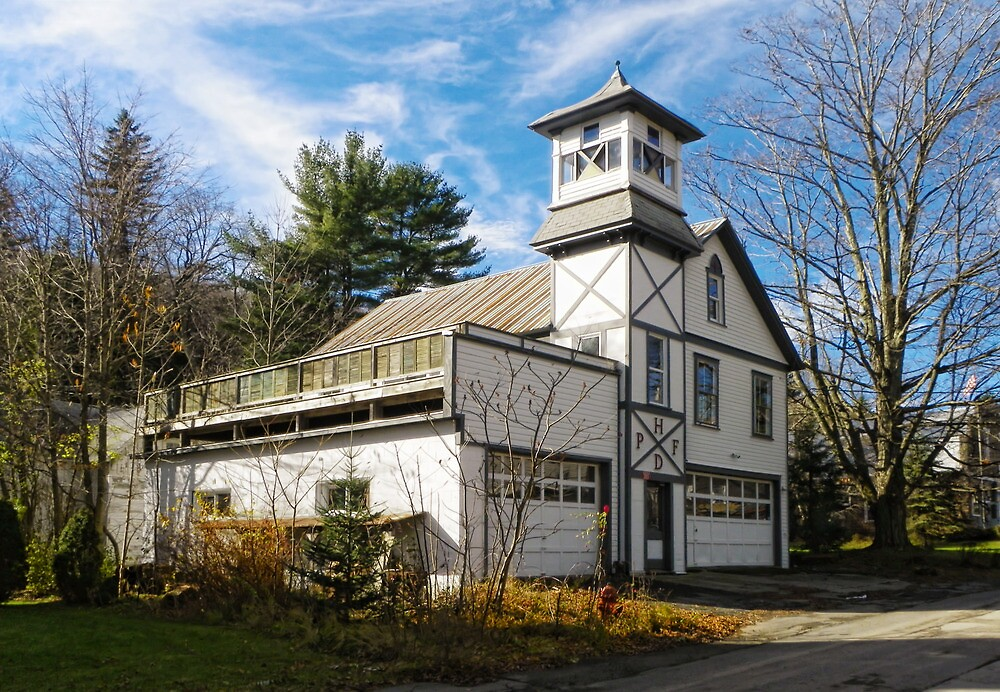 Pine Hill Firehouse by Pamela Phelps