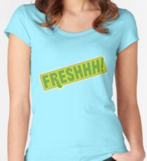 'FRESHHH!' Slogan T-shirt Women's Fitted Scoop T-Shirt