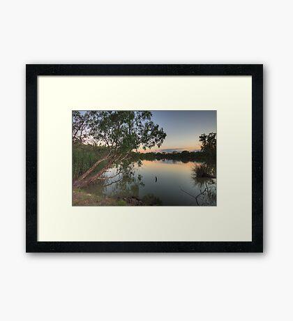 Last Light - Murray River, NSW Australia - The HDR Experience Framed Print