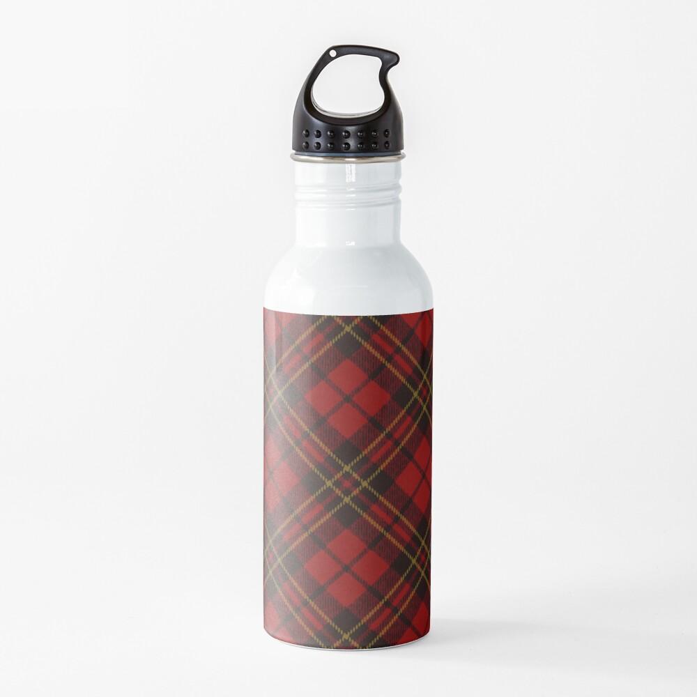Adorable Red Christmas tartan pattern Water Bottle