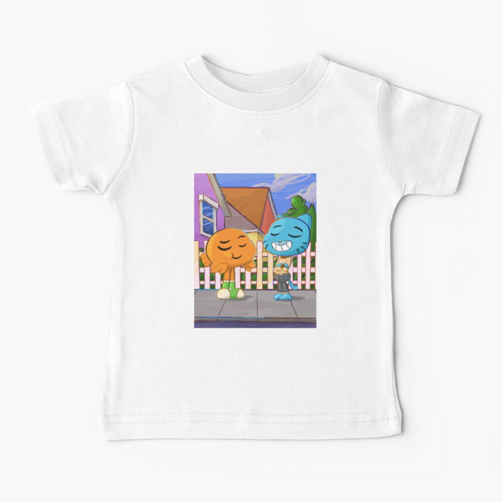 Gumball and Darwin with background Baby T-Shirt