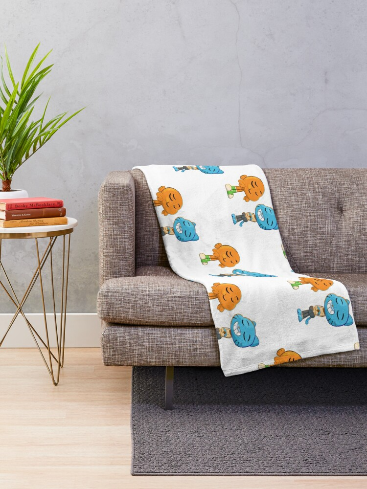 Alternate view of Gumball and Darwin Throw Blanket