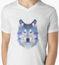 Geometric Wolf Men's V-Neck T-Shirt