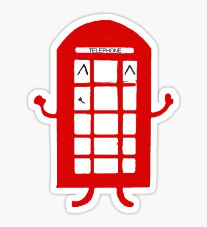 Cartoon Telephone Box Sticker