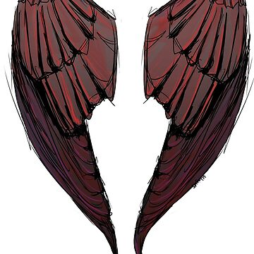 Wings in red - back of shirts by 42nights
