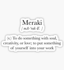 Meraki Sticker