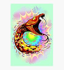 Snake Attack Psychedelic Surreal Art Photographic Print