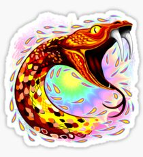 Snake Attack Psychedelic Surreal Art Sticker