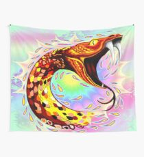Snake Attack Psychedelic Surreal Art Wall Tapestry